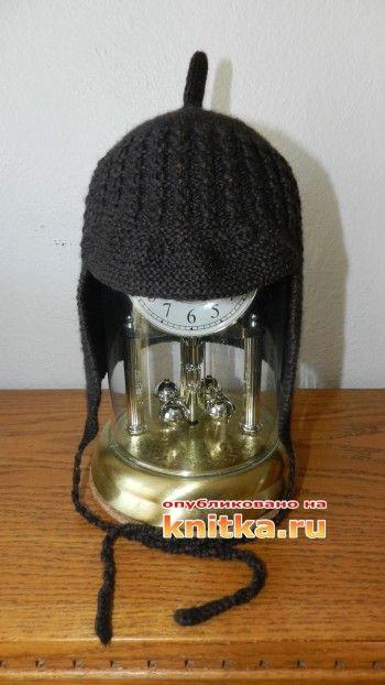 фото вязаной спицами шапочки