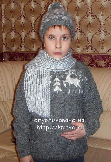 шапки и шарф для мальчика фото