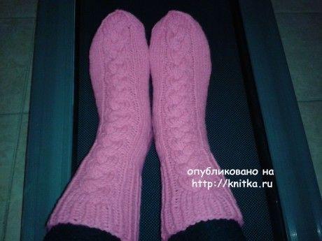 фото вязаных спицами носок