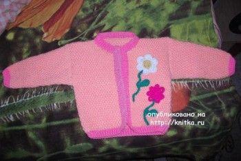 фото жакета для девочки связанного спицами