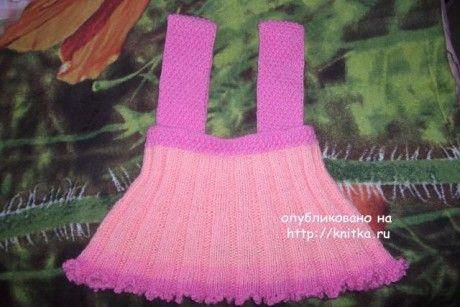 фото вязаной спицами юбочки