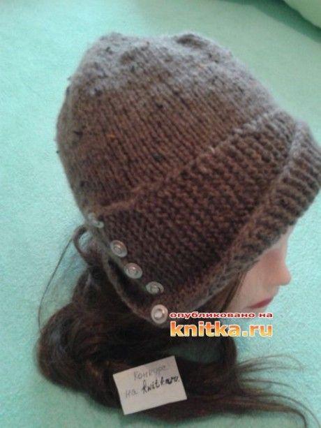 Женская шапка РОБИН спицами. Вязание спицами.