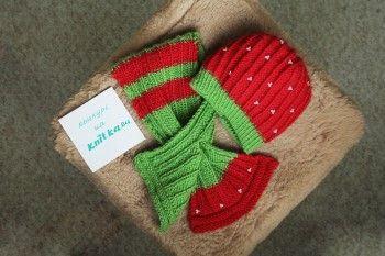 Шапочка и шарф - работа Элен. Вязание спицами.