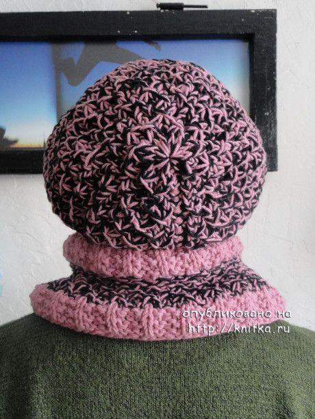 шапка и шарф спицами фото