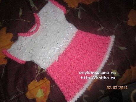 фото вязаного спицаами платья