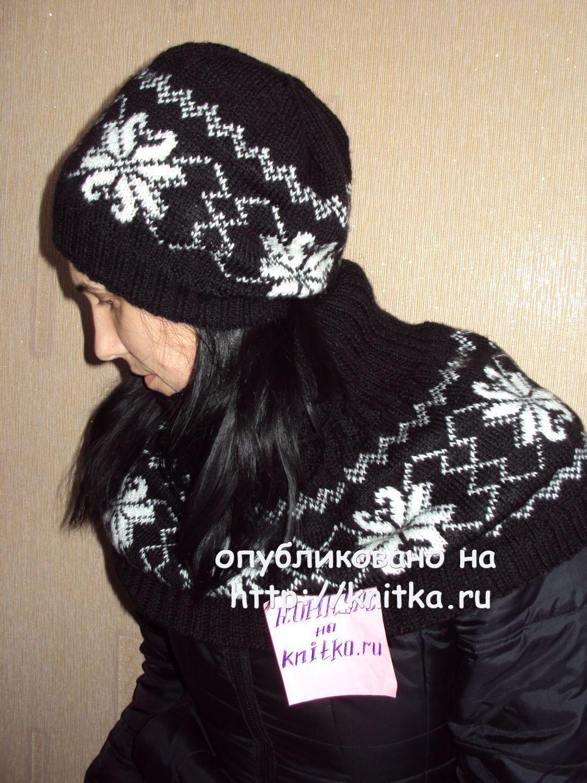 схема вязания спицами манишки для женщин
