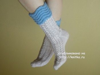 Вязаные носки. Авторская модель Ирены.