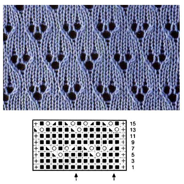 Рисунок для снуда спицами схема 649