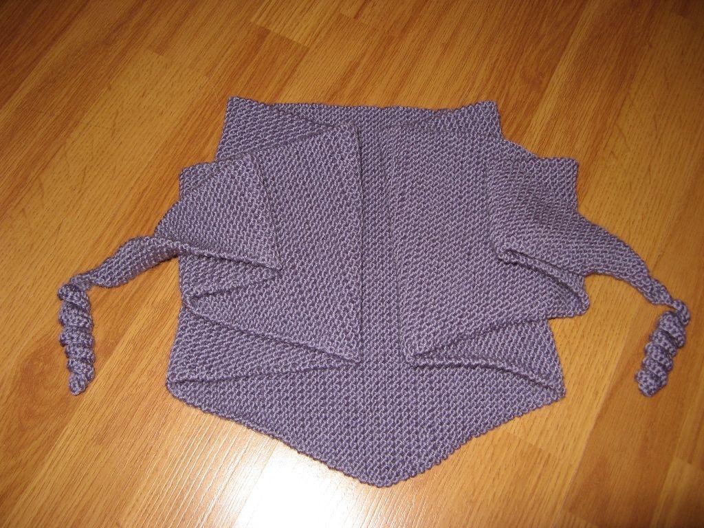 шарф спицами ажурный схема