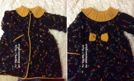 фото вязаной спицами кофточки