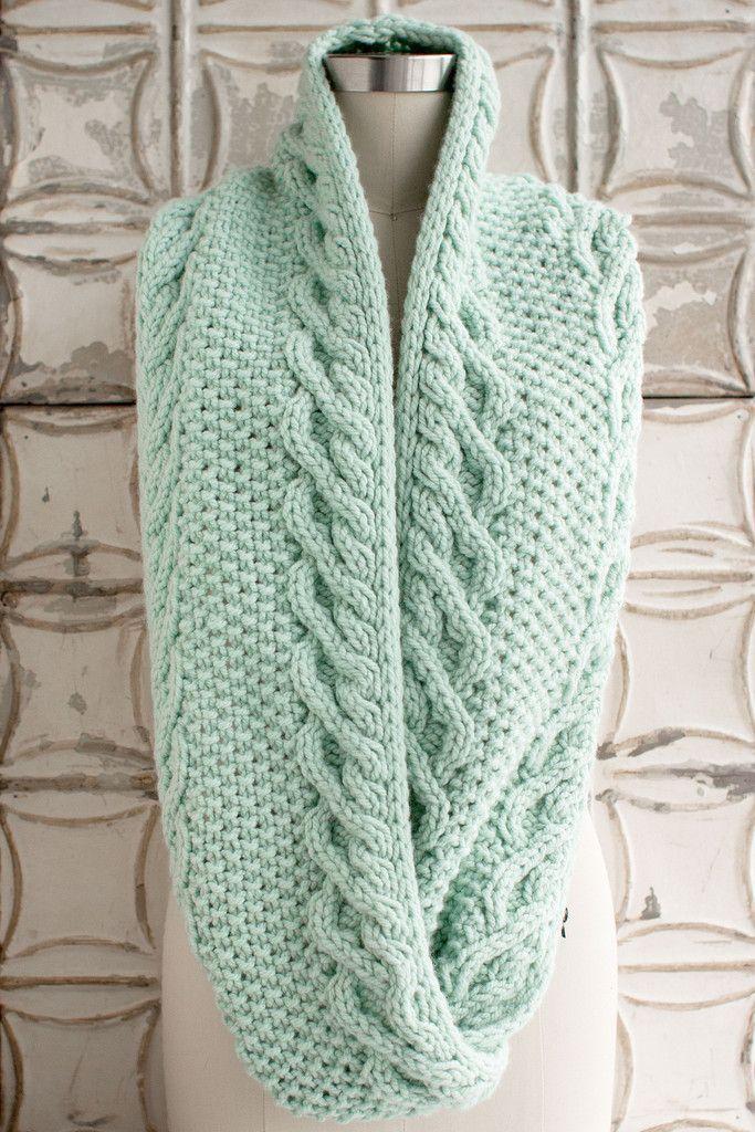 Как вязать шарф снуд спицами схема фото 17