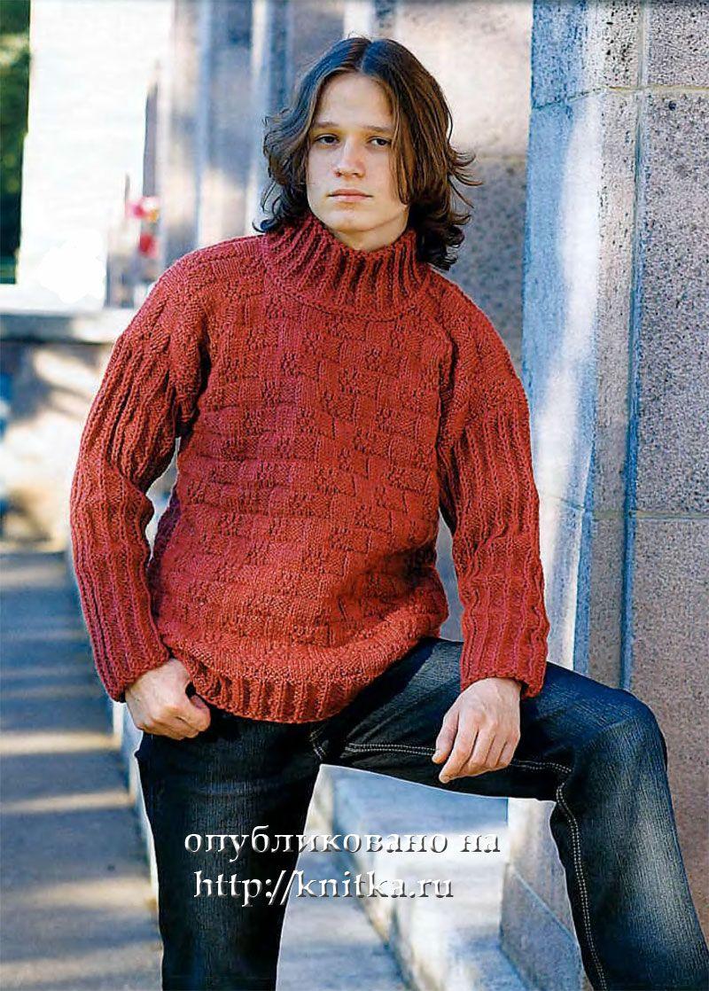 схема свитер спицами размер 56