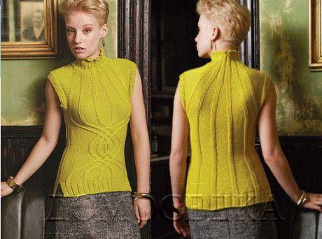 Эффектная безрукавка спицами от дизайнера Шири Мор