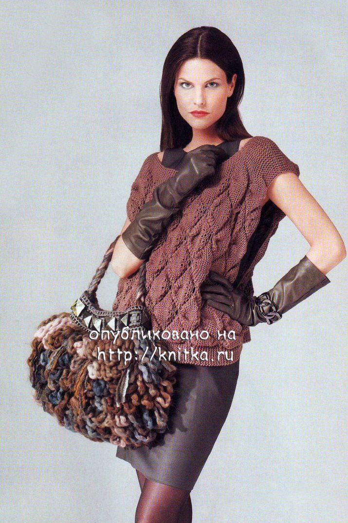 Вязание меланжевой пряжей спицами для полных женщин