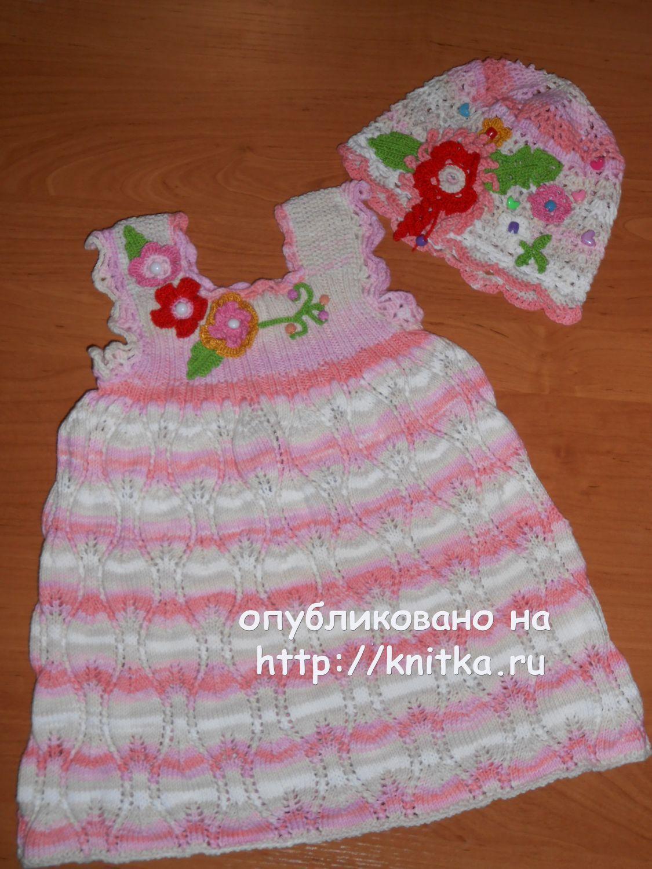 Вязание спицы платье хлопок детское