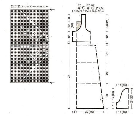 Схемы вязания и выкройка платья:
