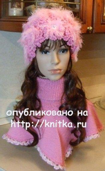 Вязаные спицами шапочки - работы Марии Казановой