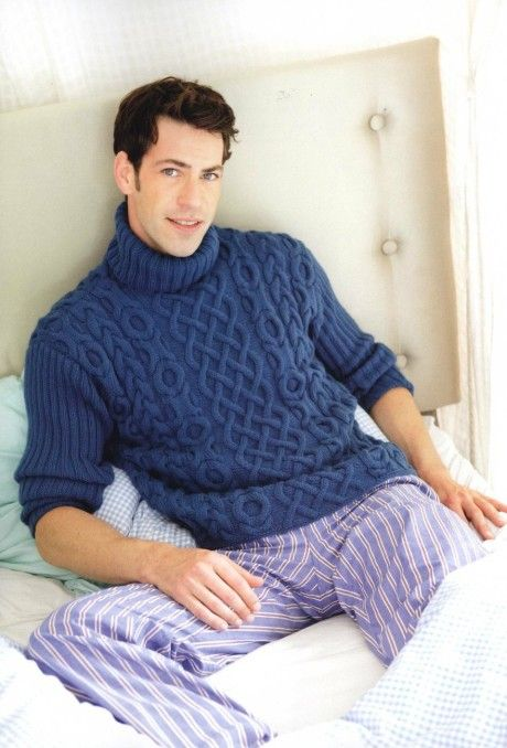 Связать мужской свитер спицами схемы и 56 размер