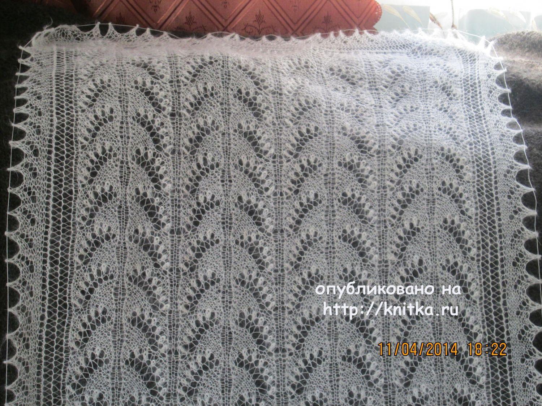 Схема ажурного палантина спицами из мохера фото 86