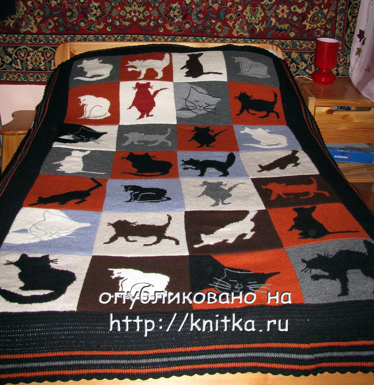 одеяла и пледы вязаные спицами схемы