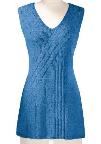 голубая туника спицами