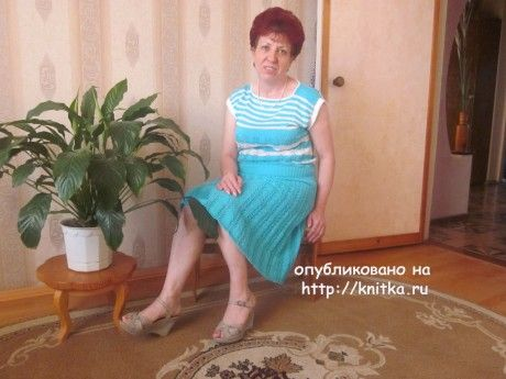 женский костюм спицами