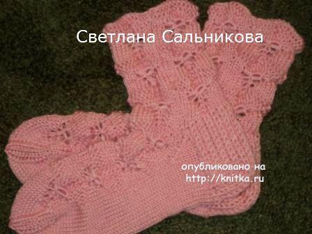 Носки спицами работы Светланы Сальниковой, Работы наших читателей