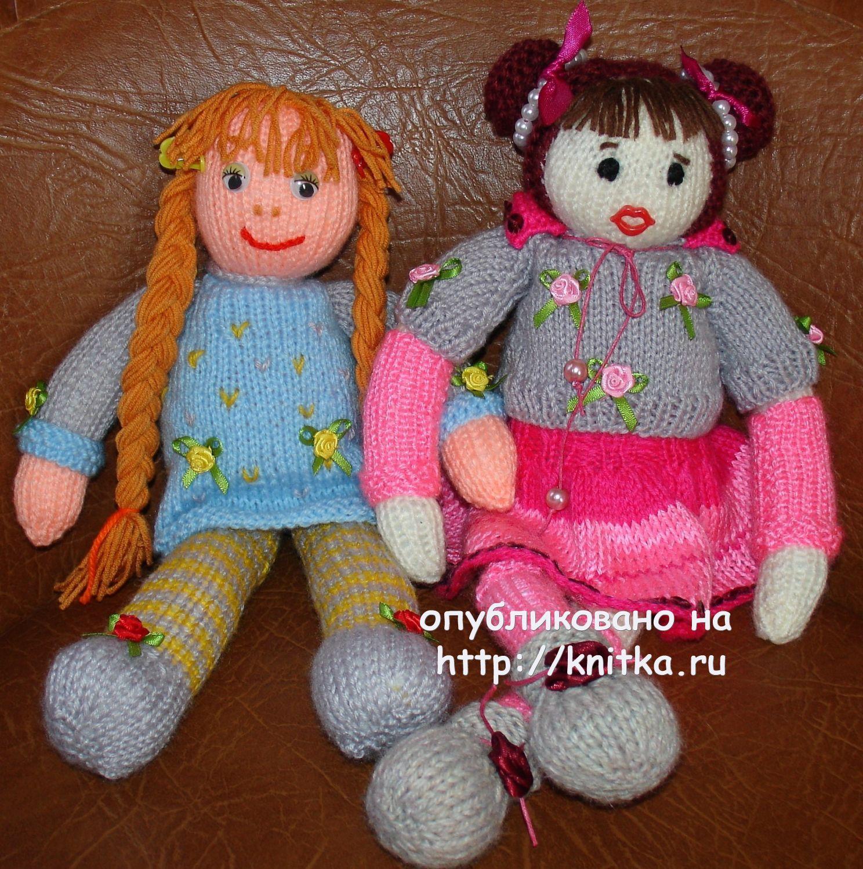 Вязаные спицами игрушки работы Ирины,  Вязаные игрушки