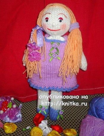 Вязаные спицами игрушки - работы Алены