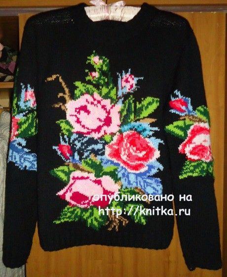 свитер спицами фото