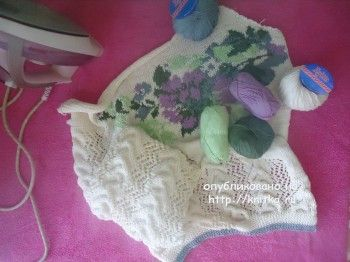 Джемпер с цветами из VERENA - работа Лилии