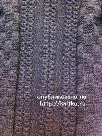 Черная кофточка спицами - работа Любови Жучковой