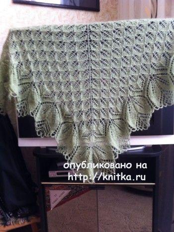 Вязаные спицами шали - работы Любови Жучковой