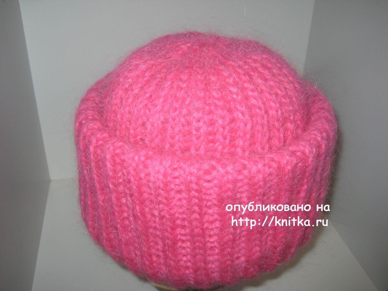Вязание шапка с отворотом английской резинкой