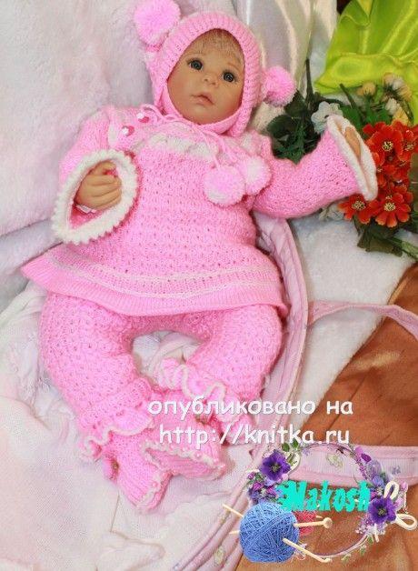 детский костюм спицами
