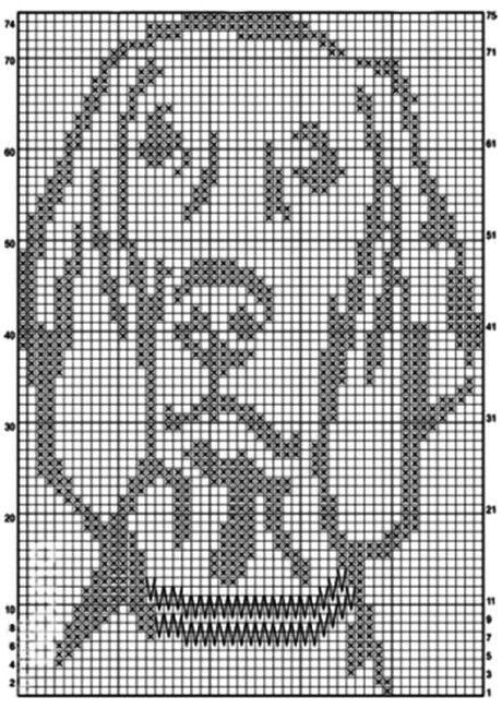 Схема вязания покрывала