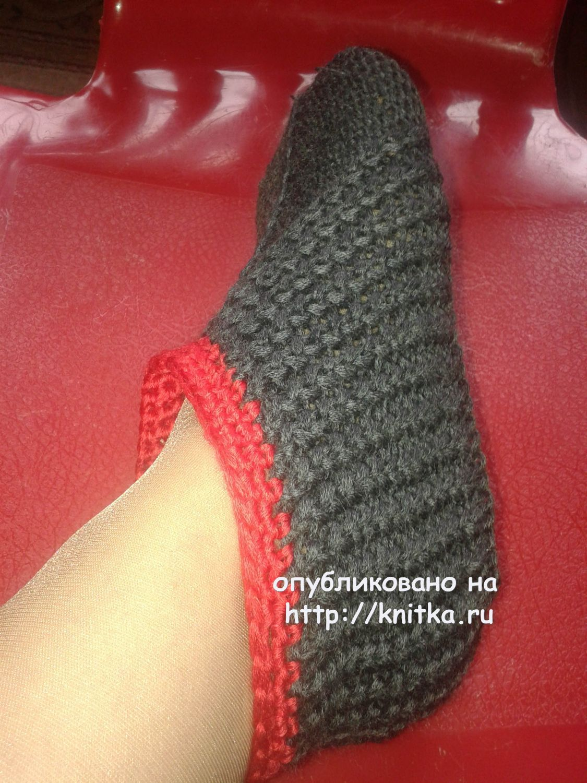 Следы – тапочки спицами, Вязание для женщин