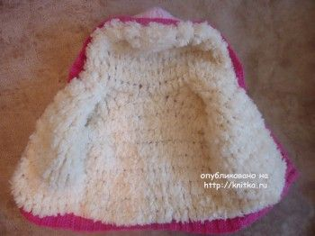 Курточка для девочки спицами - работа Лилии