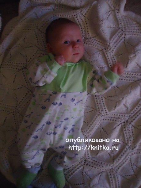 детский плед спицами