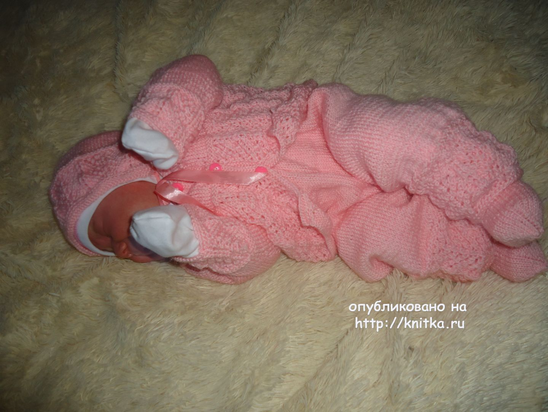 схема вязания костюма на спицах для новорожденного