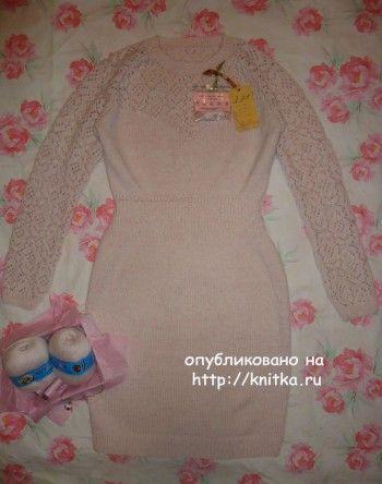 Копия платья от Victoria's Secret - работа Лилии. Вязание спицами.