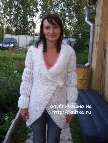 Жакет связанный спицами - работа Марии Казановой. Вязание спицами.