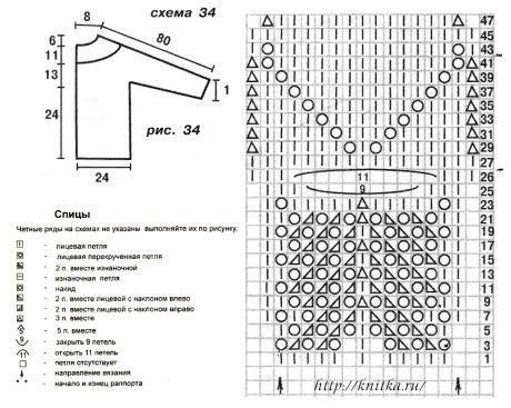 летняя кофточка спицами схема