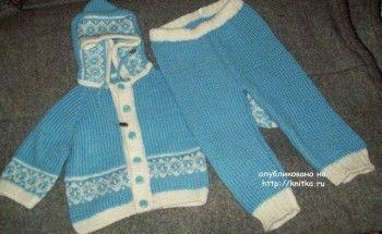 костюм для мальчика спицами