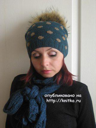 Вязаные шапки - работы Татьяны