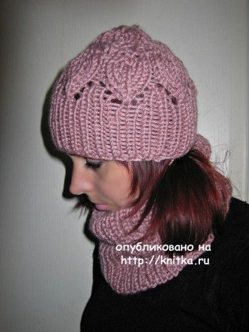 Комплект: шапочка и снуд