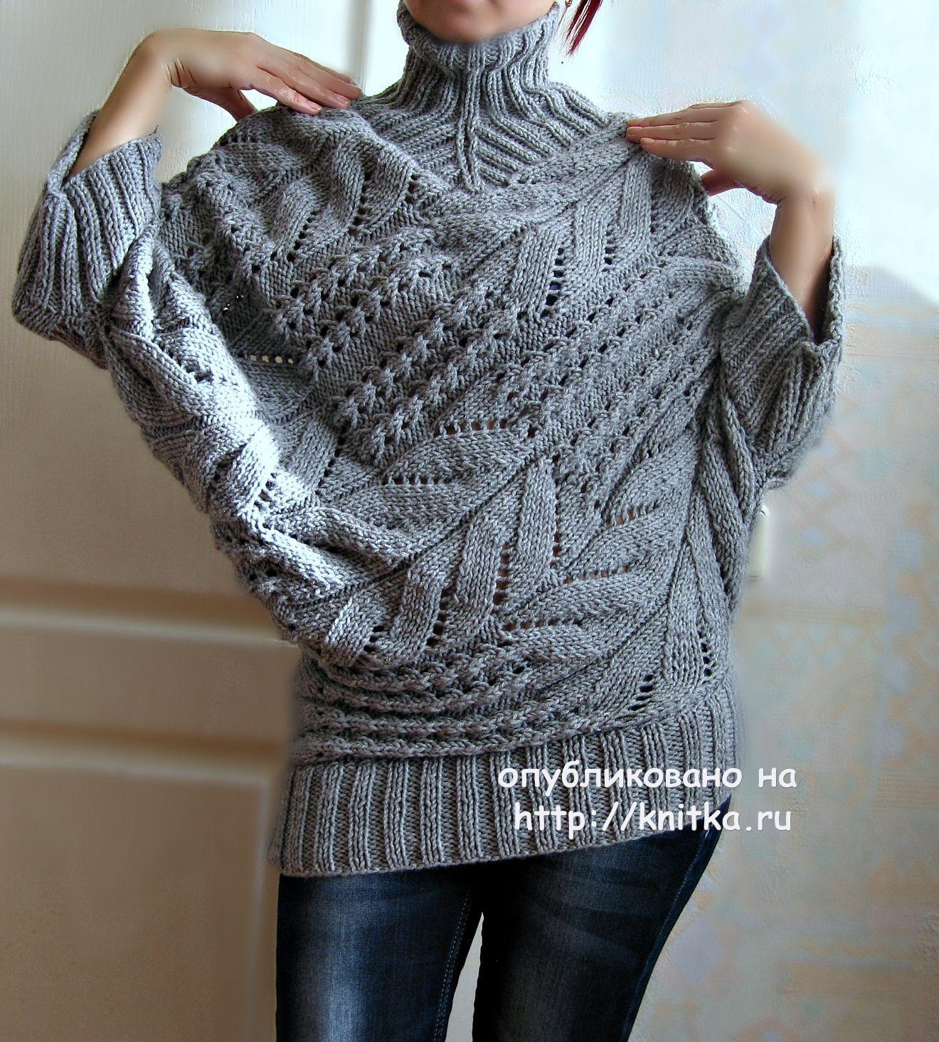 Ручное вязание спицами кофты для