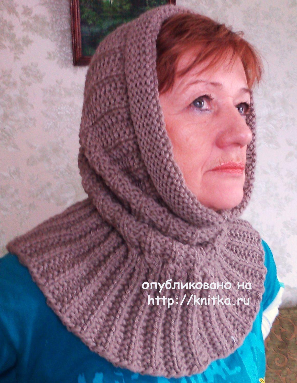 Как связать шапку шарф спицами со схемами фото 977