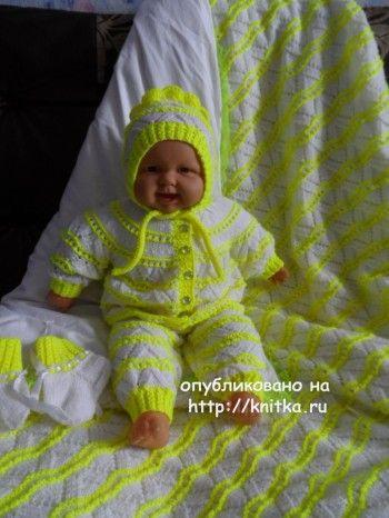 Комплект для малыша - работа Оксаны. Вязание спицами.