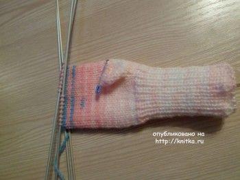 Рукавички для девочки. МК от Ольги
